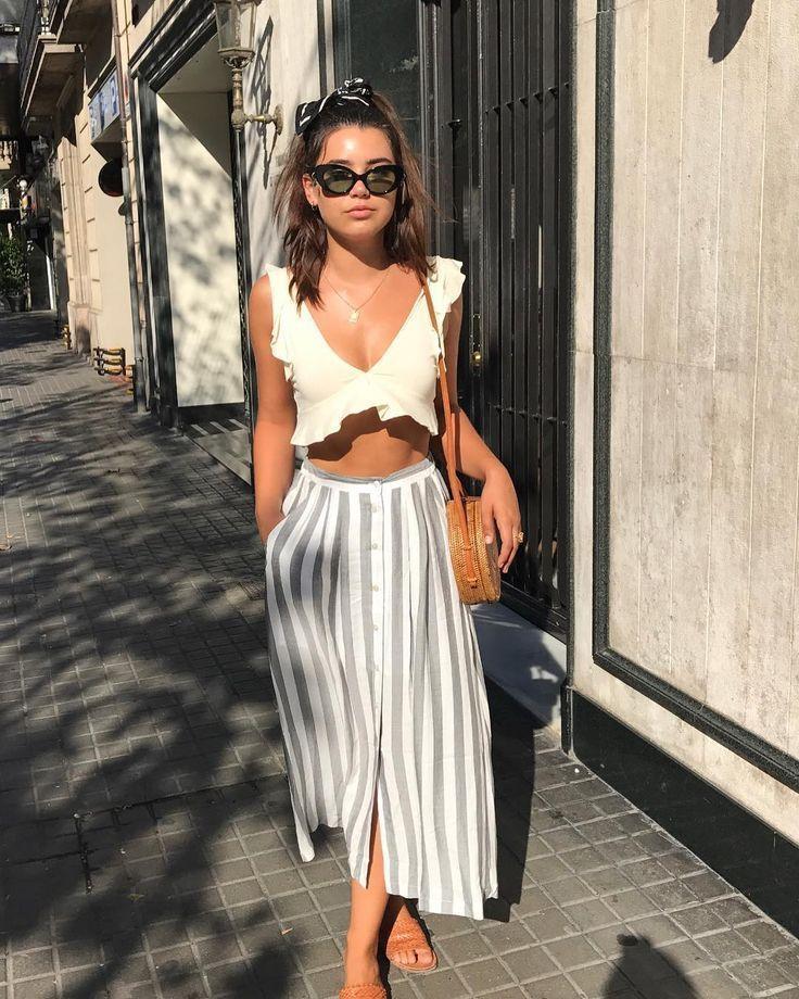 Frauenkleidung – 48 Hübsche Sommer-Outfits, die Sie im Urlaub #frauenmode # #outfitsyou ausprobieren müssen