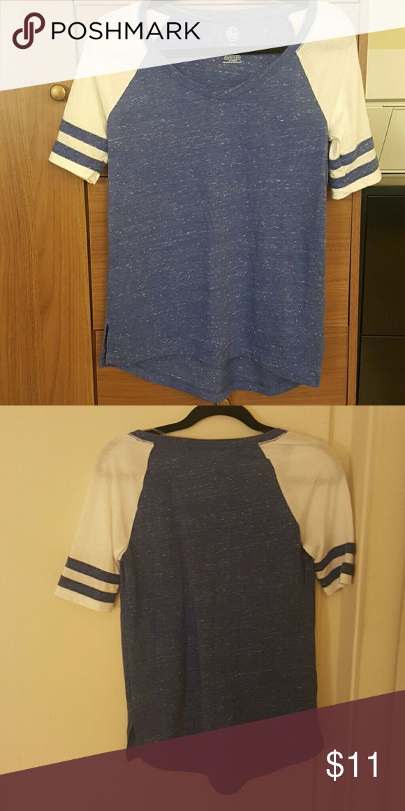 SO Relaxed blue and white tee Never worn. Relaxed loose fitting blue and white tee. SO Tops Tees - Short Sleeve