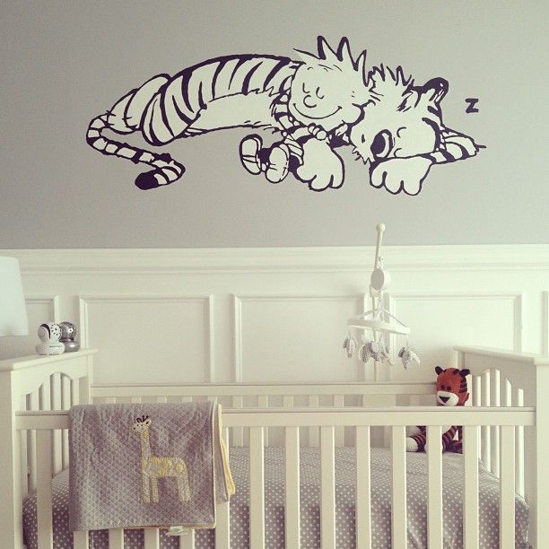 Calvin Hobbes Nursery Not Such A Mural Might Be Easier To Cover Up After The Fact Inspiration Pinterest Baby And Room