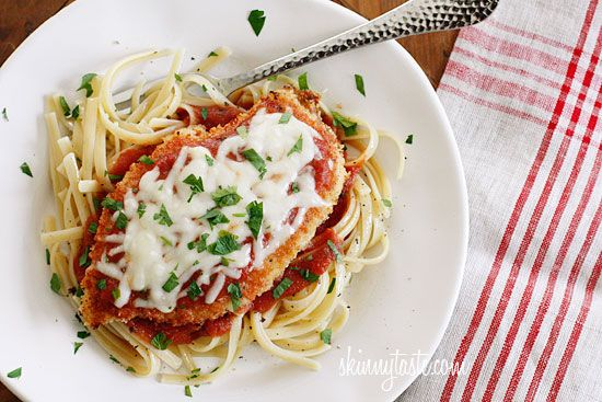 Baked Chicken Parmesan - An Italian classic, lightened up.