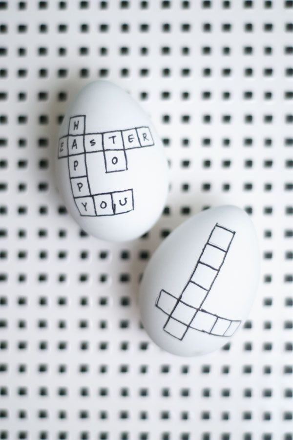 DIY Crossword Easter Eggs