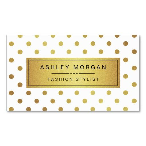 9 best faux gold foil business cards images on pinterest business elegant and cute gold glitter polka dots fashion and unique business cards the background reheart Choice Image