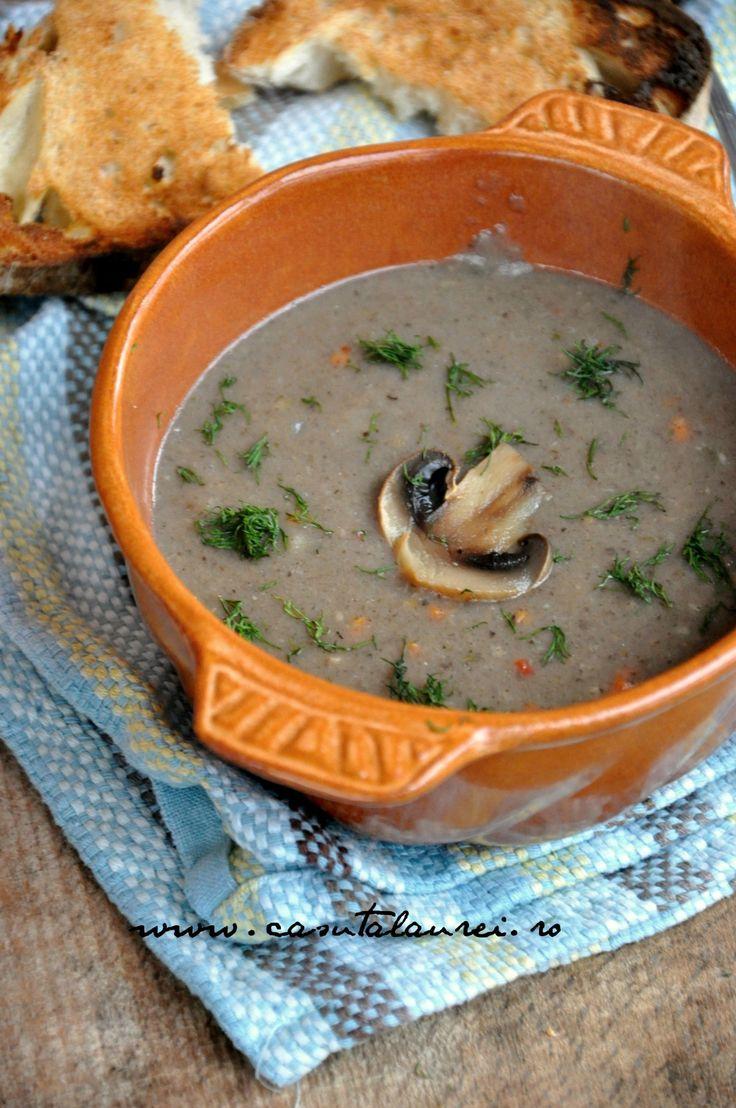 Supa crema de ciuperci, o reteta rapida, de post, vegana