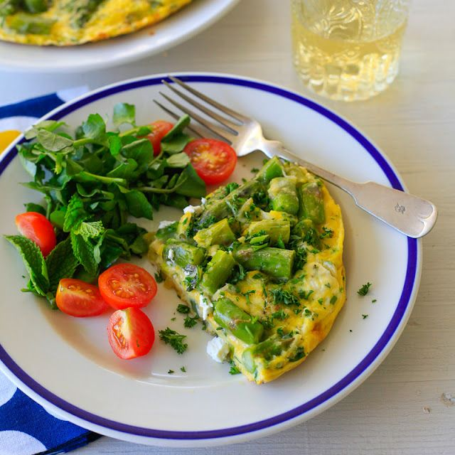 ... : How to make a frittata: asparagus and goat cheese frittata recipe