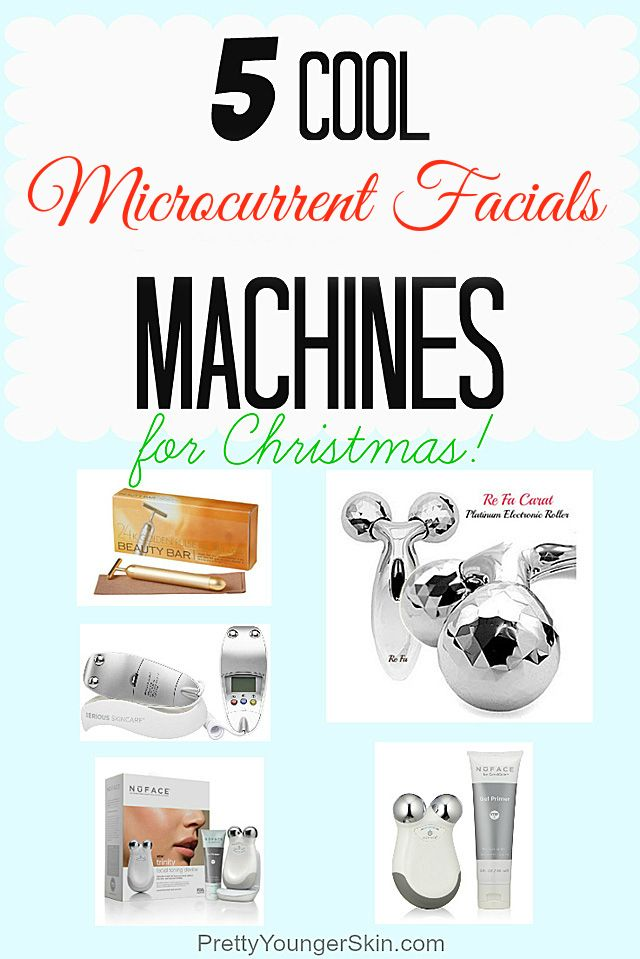 5 of the Coolest Home Microcurrent Facial Machines for Christmas and Holiday Gifts! #Microcurrent Facial