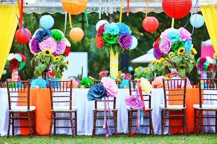 rainbow coloured reception decorations wedding ideas pinterest paper receptions and. Black Bedroom Furniture Sets. Home Design Ideas