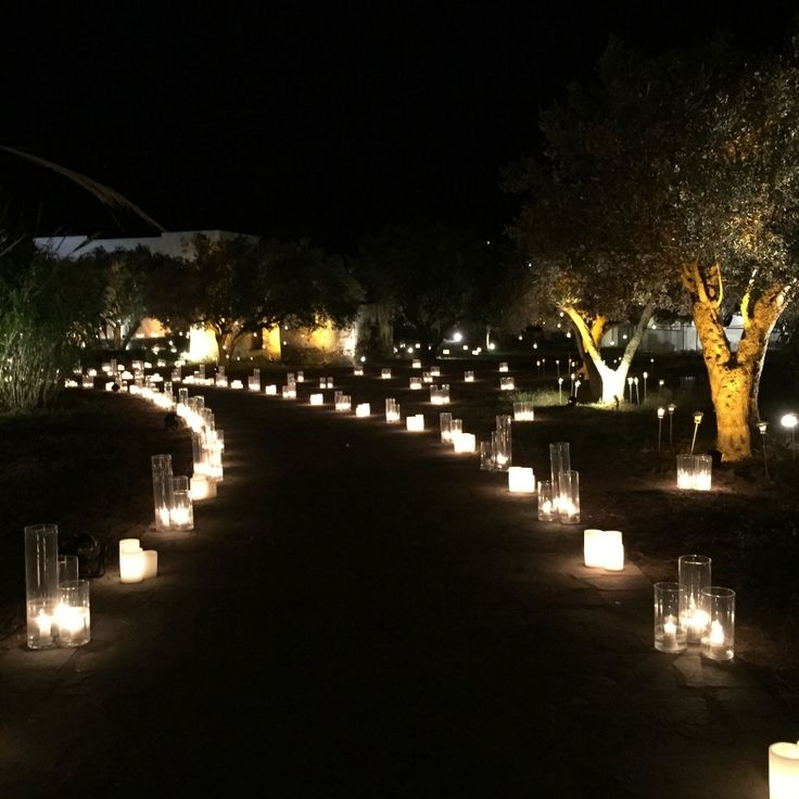 Millions of glass tubes with candles lighting the way to the party!