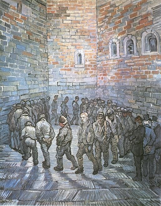 Prisoners Exercising.  Vincent van Gogh.