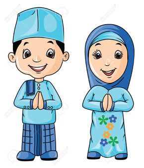 Gambar Kartun Anak Muslim Vector | Kartun