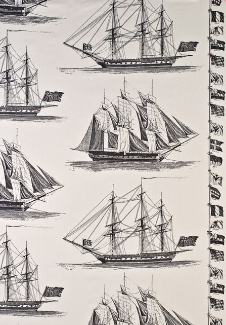 This is an interesting design with frigates and ensigns from the early 19th century.