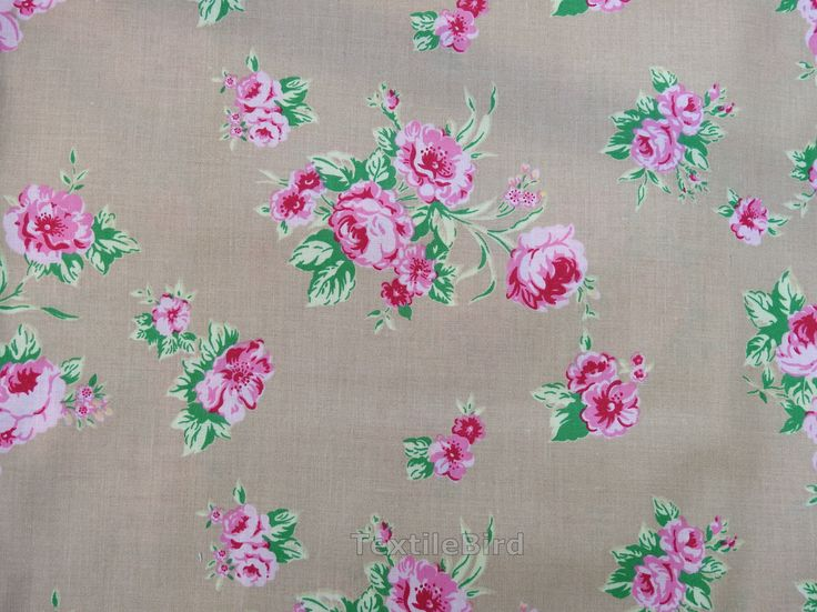 Rose Bouquet, Pink-long quarter - High quality cotton fabric. You can use for quilting and other craft projects.