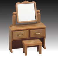 Limited stocks pine dressing table ref c13 the for Sylvanian families beauty salon dressing table