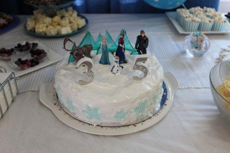 Disney Frozen party easy frozen cake diy figurines