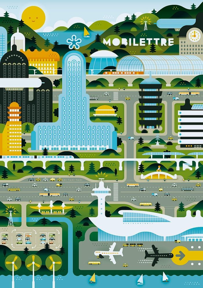 Green City #art #illustration