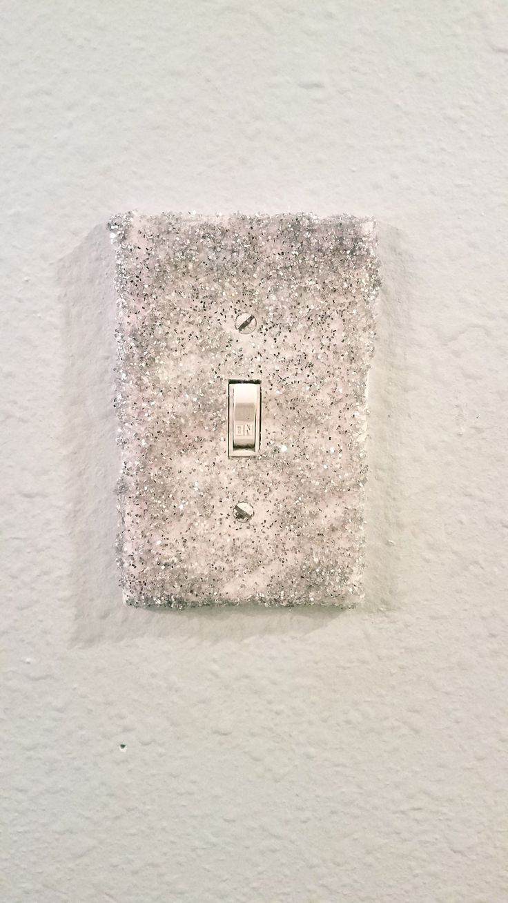 Diy glitter light switch