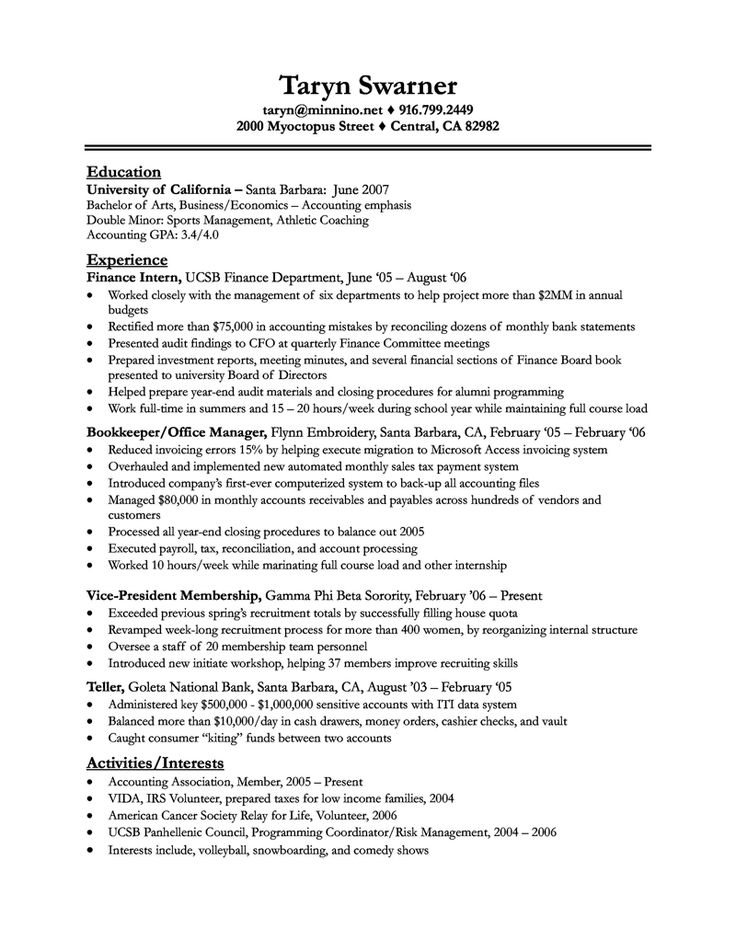 Bank Teller Resume Sample With