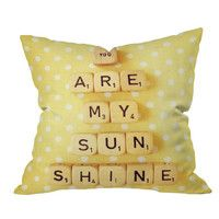 You are my sunshine pillow by Happee Monkee  ...  make into a wall hanging??