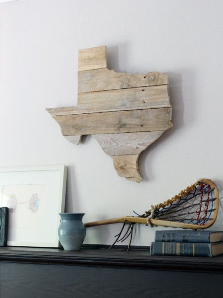 TX Timber - use this idea to make any shape and decoration you want.. make a moose, bear, or a really cool state like the State of Alaska!