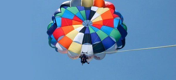 parasailing on Bay Lake