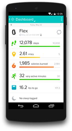 Fitbit - - keeps you moving to lose the excess weight