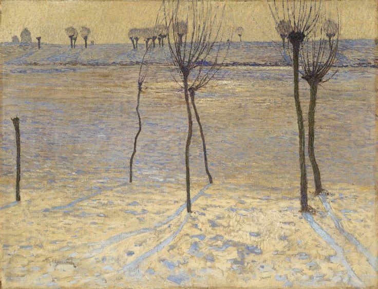 Max Clarenbach, WINTERLANDSCHAFT AM NIEDERRHEIN, Auktion 969 Alte Kunst, Lot 1293