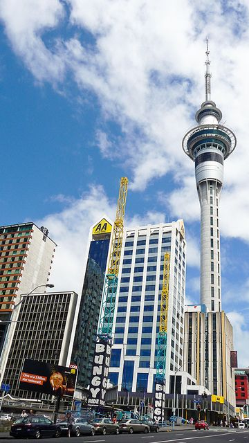 NEW ZEALAND: Auckland - city of sails (and telecom tower). Remember my trip here in January 2001 - it remains one of my favourite cities.