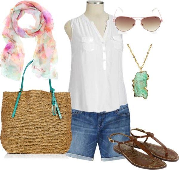 """Summer Casual Plus Size"" by alexawebb ❤ liked on Polyvore"