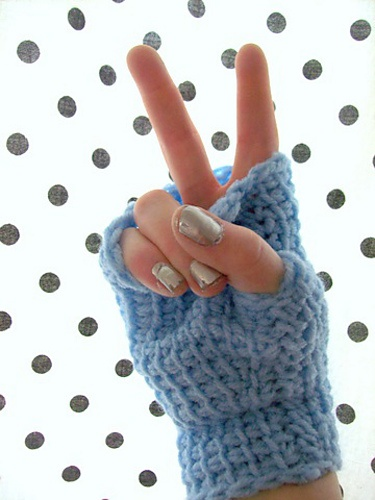 Tunisian Crochet Fingerless Gloves Pattern Image Collections