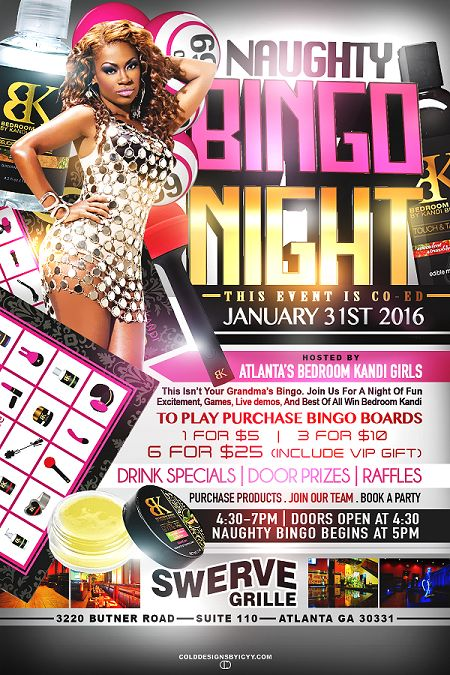 Naughty Bingo  Bedroom Kandi by Bridget  Bingo Bingo tickets Kandi
