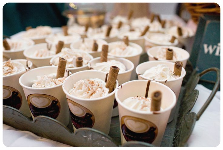 Cupcakes that look like coffee...    Such a cute idea for the bridal shower :)