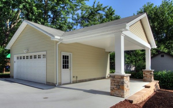 12 best images about carport on pinterest covered back for Building onto a house