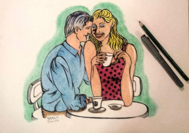 Cafe couple