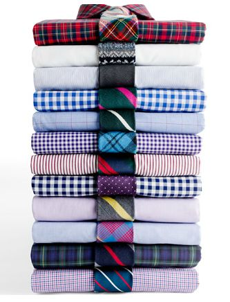 shirt tie combos - I'm do bad at this...I always go print with a solid...apparently you don't have to do that anymore...