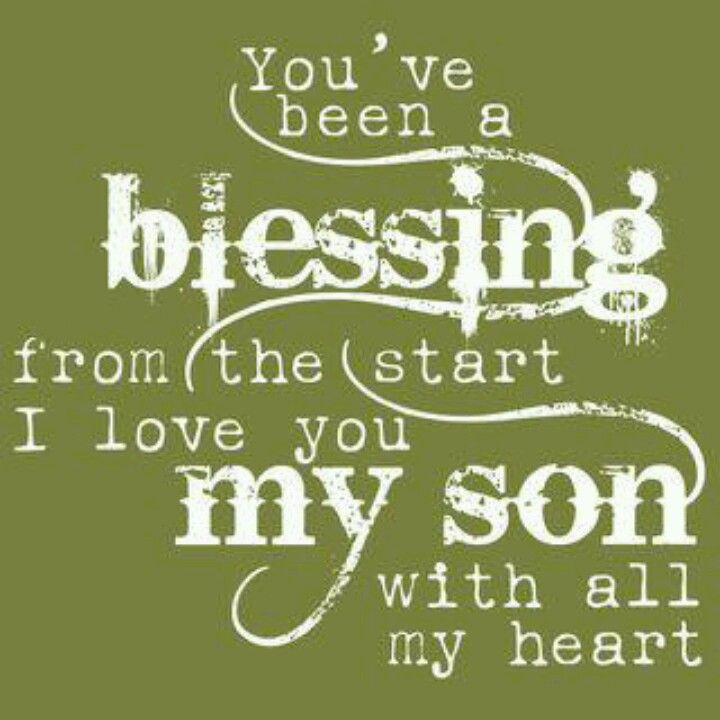 love you son with all my heart ?