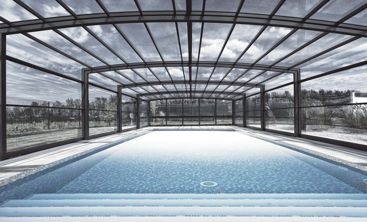 Pool Enclosure POPP PRESTIGE P3 - large, spacious solution for various pool sizes