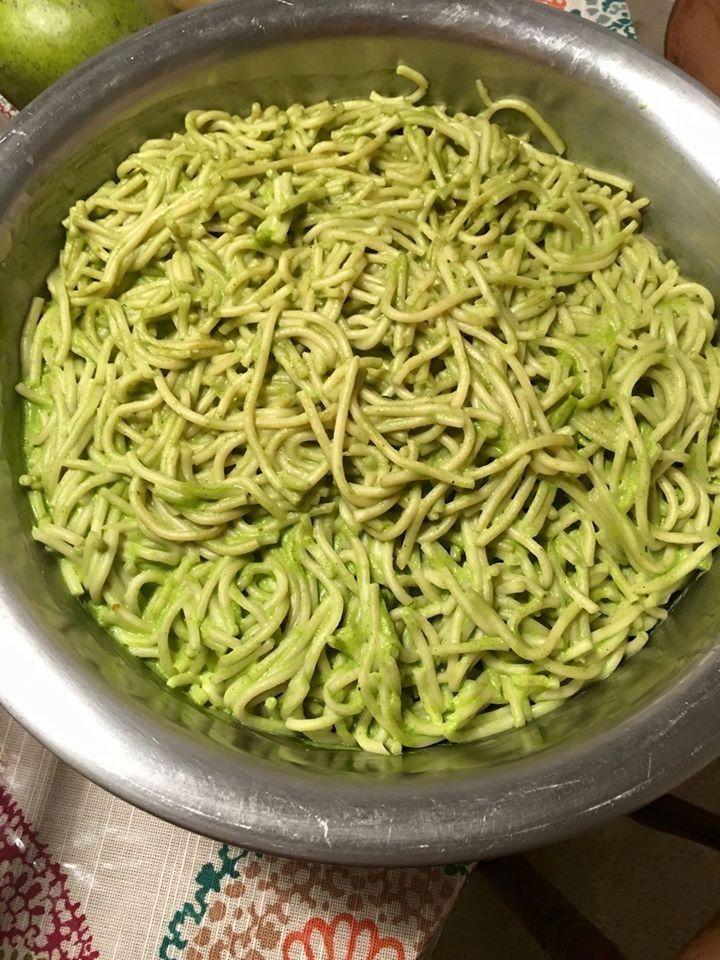 how to make green spaghetti recipe