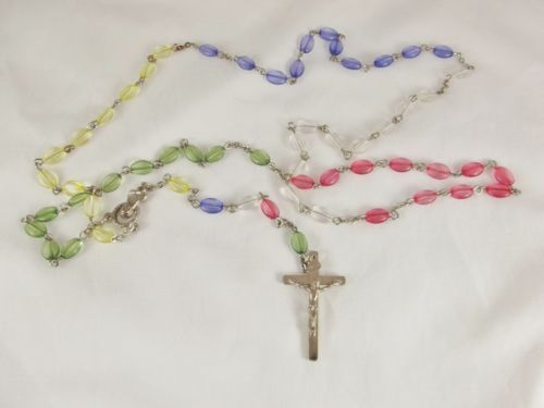 Vintage Rosary Colorful Plastic Beads 5 Decade EXC Cond | eBay