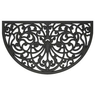 """Shop for Wrought Iron Rubber Door Mat (18"""" x 30""""). Free Shipping on orders over $45 at Overstock.com - Your Online Home Decor Shop! Get 5% in rewards with Club O!"""