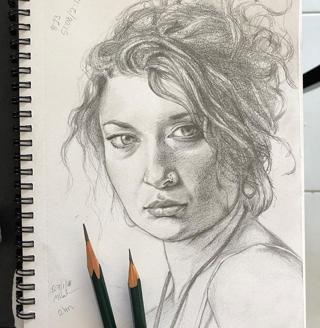 Amanda pencil on paper. Starting a new sketchbook going to try to fill it up with portraits and figure drawings. #portrait#drawing#woman#face#portraitdrawing#shading#pencil#pencildrawing