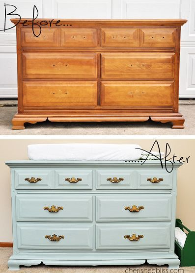 A Dresser to Changing Table Redo With a Clean Vintage Look