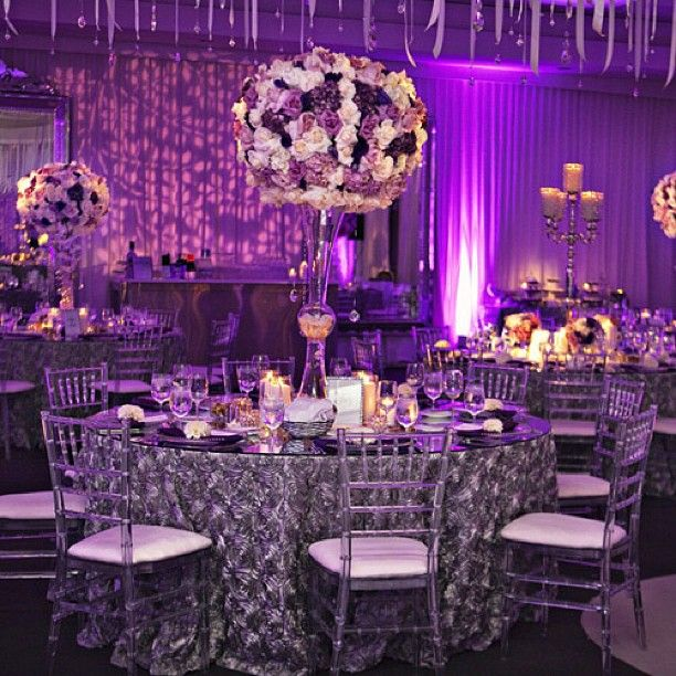 Silver Wedding Decorations: 138 Best Purple Fantasy Weddings Images On Pinterest