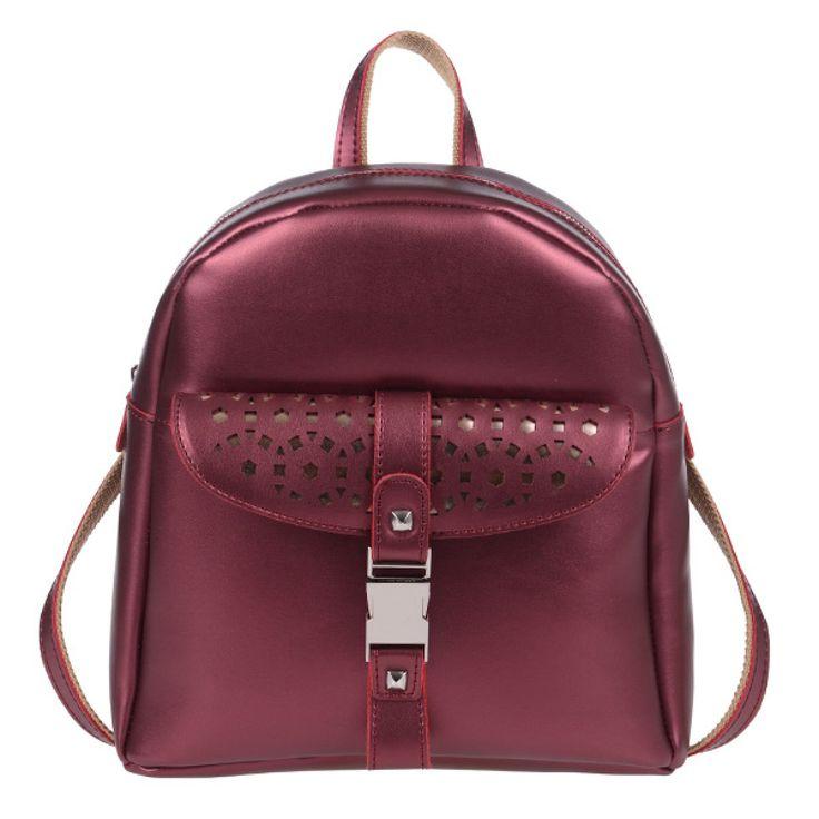 ΤΣΑΝΤΑ PIERRO 00173 ΜΠΟΡΝΤΩ  Τσάντα πλάτης με εξωτερικό μπροστινό τσεπάκι,  διακοσμητική κλειδαριά και πίσω τσέπη με φερμουάρ.  Ύψος29  Πλάτος27