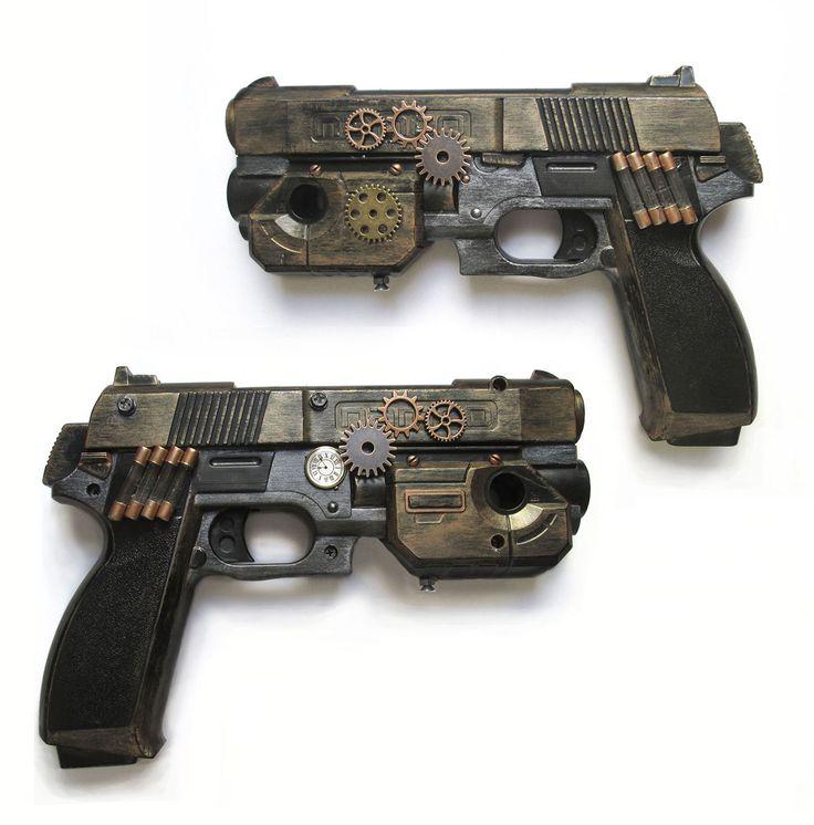 Pistola Steampunk con láser funcional