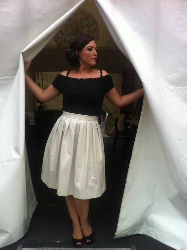 Zelt Musik Festival Freiburg, july 19 2012 Skirt: French Connection Top: vintage Inspiration: Grace Kelly ;-)