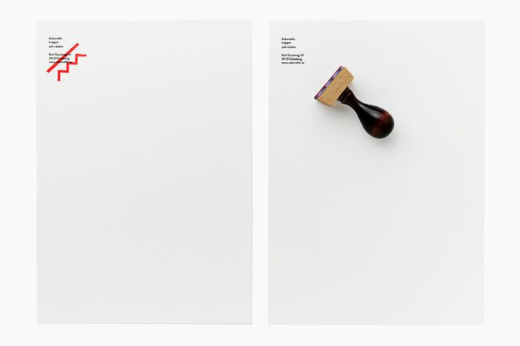 Corporate identity and stationery for Askeroths trappor och räcken — a small Swedish manufacturer specializing in custom built stairs and railings by Swedish studio Bedow.