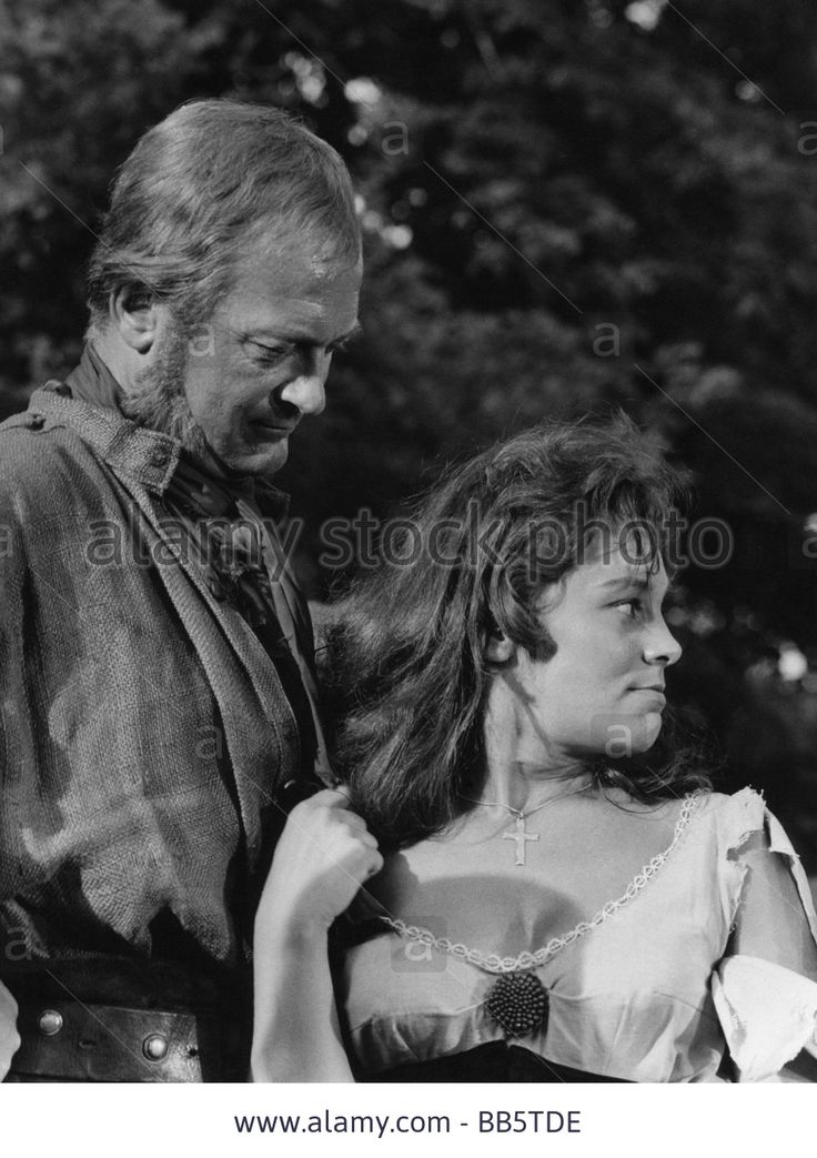 "movie, ""Duel in the Forest"" (Der Schinderhannes), DEU 1958, director: Helmut Käutner, scene with: Curd Jürgens and Eva Pflug, ne Stock Photo"