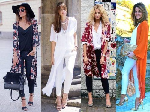 kimono street style looks- How to style your kimono cardigan http://www.justtrendygirls.com/how-to-style-your-kimono-cardigan/