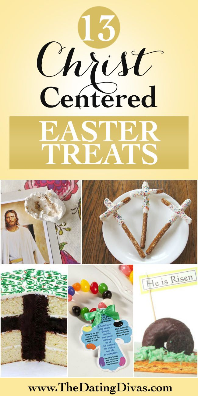 Fun Christian food crafts for Easter!  The kids would love this  and I love that it is all centered on Christ instead of just the Easter bunny.