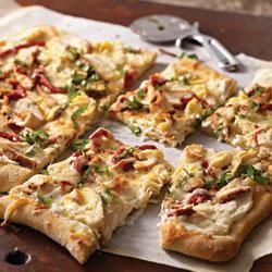, Bacon and Goat Cheese Flatbread (Pillsbury Pie Crust, Goat Cheese ...