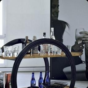 Marchetti 'Adularia' drinks trolley. With waiter too please! 100% hand made in Italy www.marchettimaison.com